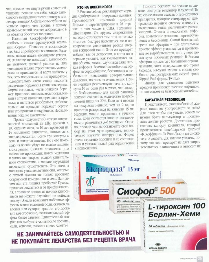 Meridia And Prozac